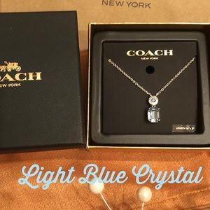 COACH Necklace Silver w Blue Crystal Gorgeous 🌟